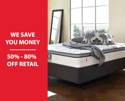 Graphic showing how SOS Mattress saves you money. Create the most cozy bedroom at home with SOS Mattress.